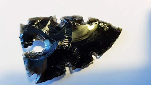 Punta de flecha Obsidian con entalladuras