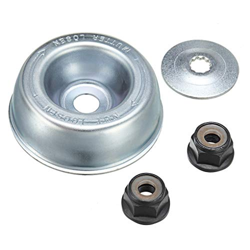Pandiki 4PCS / Set de Fixation Lame en métal Rechange de Haute qualité Kit pour STIHL Tondeuse à Gazon débroussailleuse