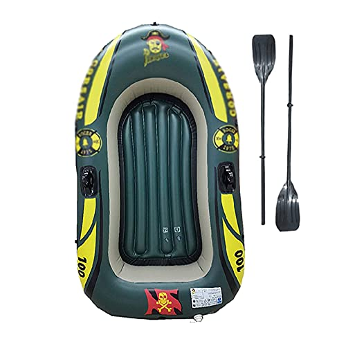 LANHA Kayak Hinchable, Barca Hinchable para 1 Persona Barco de Pesca Ligera con Bote y remos y Bomba Kayak Inflable de PVC Soporta hasta 100 KG