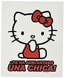 Hello Kitty KIT3011 Pegatina Adelantado UNA Chica Vinilo 17 x 13,5 cm