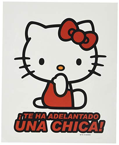 Hello Kitty KIT3011 Pegatina Adelantado UNA Chica Vinilo 17