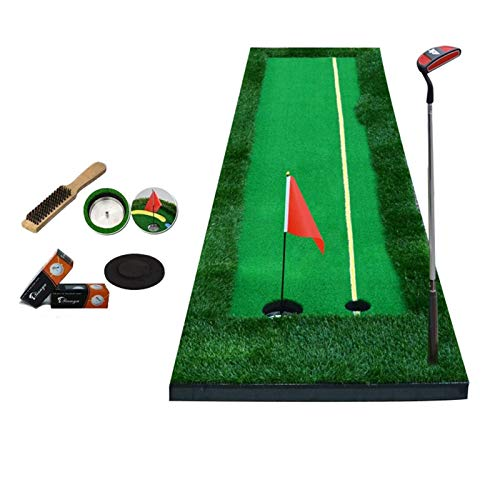 LLF Alfombras de Putting, Golf Putting Mat Portátil Portátil Non-Slip Golf Putiendo Ejercitador Verde Turf Césped Hierba 0.5 * 3M / 0,5 * 3M para Oficina Interior De Patio Interior (Color: 2 Color)