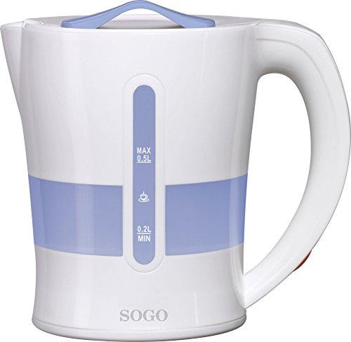 Sogo KET-SS-5755 Hervidor de agua de viaje, 1050 W, 0.5 litros, Plástico,...