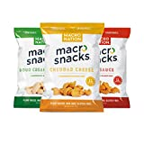 Macro Snacks Gluten Free Plant Based High Protein Chips, Classic Flavor Variety Pack, 3 Flavors, 6 total bags