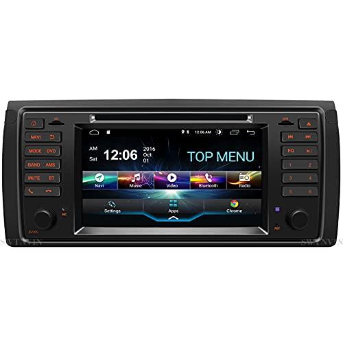 SWTNVIN Android 10.0 Autoradio Headunit Passend für BMW 5er E39 / BMW X5 E53 / BMW M5 / BMW 7er E38 DVD Player Radio 7 Zoll HD Touchscreen GPS Navigation mit Bluetooth WiFi SWC DSP TPMS DAB 2GB+32GB