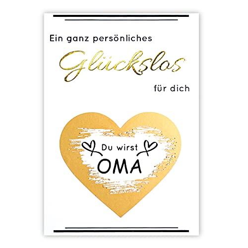 1 Rubbellos mit exklusiver Goldprägung   Du wirst Oma   inkl. Umschlag   selber machen   personalisiert   Karte   Ihr werdet Großeltern   Geschenk   Schwangerschaft verkünden