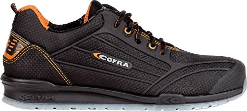 COFRA Moderner Sicherheitshalbschuh S3 SRC Cregan Aus der Beliebten Running Reihe (43, Dunkelbraun)
