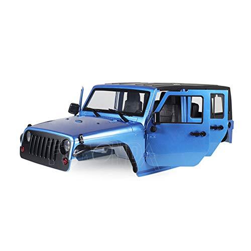 AKDSteel Zerlegte 12,3 Zoll 313 mm Radstand Karosserie für 1/10 RC Crawler Axial SCX11 SCX10 90046 90047 Jeep Wrang-ler Blau für Spielzeug