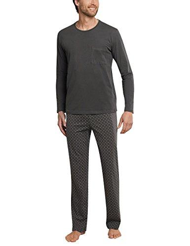 Schiesser Herren Anzug Lang Zweiteiliger Schlafanzug, Graubraun (Anthrazit 203), Large (Herstellergröße 052)