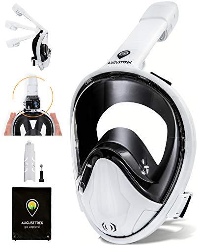 AugustTrek ONE80 GoPro Compatible Snorkel Mask