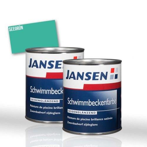 2 x Jansen Schwimmbeckenfarbe seegrün 2,5l