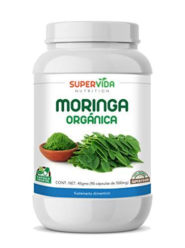 Moringa Orgánica en polvo 90 Capsulas SuperVida Nutrition