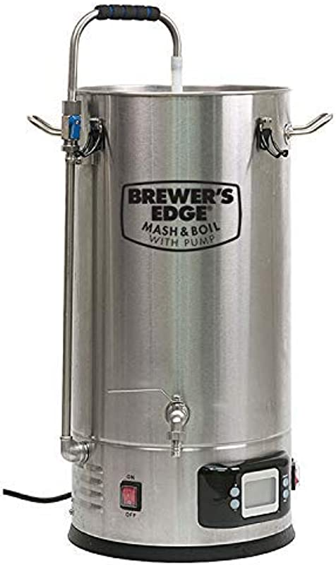 Brewer S Edge Mash And Boil With Pump All Grain Home Brewing System 7 5 Gallon