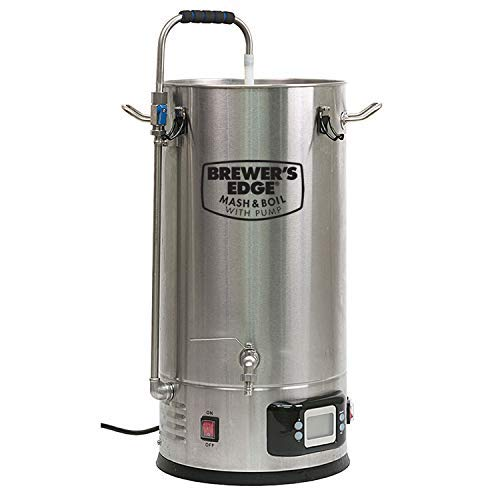 Brewer's Edge Mash and Boil with Pump   All Grain Home Brewing System 7.5 Gallon