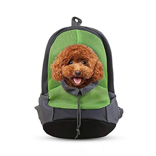 PETCUTE Mochila para Perros Medianos Transportín Perro Bolsas de Viaje para Perros Portador para Cachorro Mascotas Transpirable
