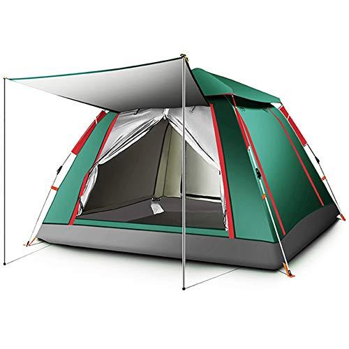 TMXWHYQ 3-5 Personas Pop-Up Automático Tienda, La Tienda De Campaña Al Aire Libre, Camping Cambio Tent Espacio De Almacenamiento, para Senderismo, Camping, Pesca,Verde