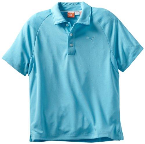 Puma Golf Junior Solid Tech Polo para mujer - 562802, M, Azul (Blue Atoll)