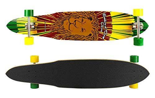 Dregs Longboards Rasta Lion Komplett Longboard 44 x 9.0