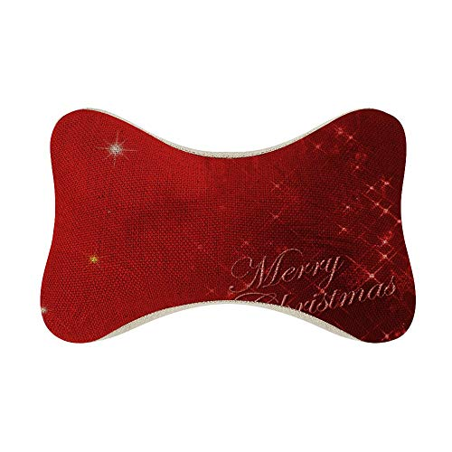 perfecone Home Improvement Cotton Pillowcase Double Merry Chrismas Letter Bling Red Sofa and car Pillow case (one Pair) 10.6 x 7 x 4.7 inches/27 cm x 18 cm x 12 cm