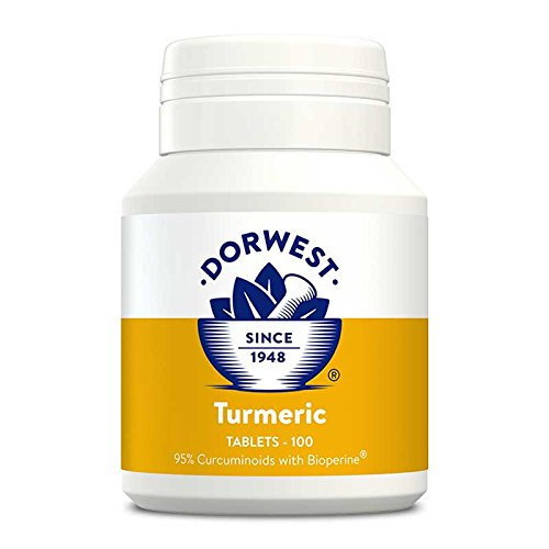Dorwest Herbs Turmeric Tablets for dogs and cats, 100 tablets