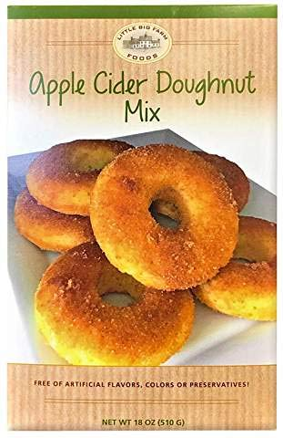 Apple Cider Donut Mix by Little Big Farm Foods - Enjoy a Delicious, Baked Treat With Our Easy-To-Make Doughnut Mix - Doughnut Batter With No Artificial Ingredients, Flavors or Colors (1 Pack)