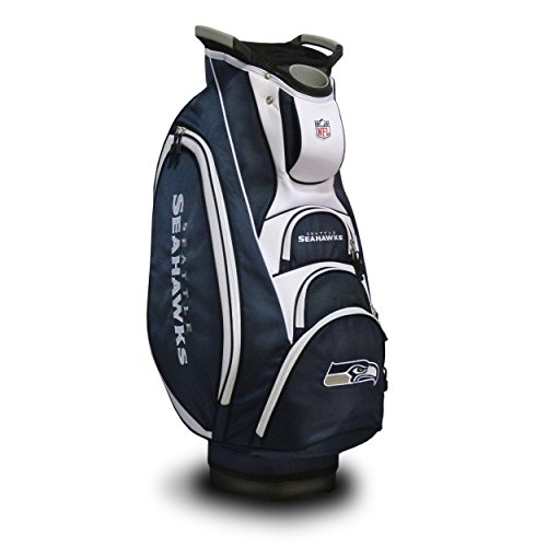 Amazing Deal Team Golf NFL Seattle Seahawks Victory Golf Cart Bag, 10-way Top with Integrated Dual H...