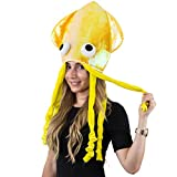 Yellow Hat - Yellow Squid Hat, Octopus Hat, Funny Hats - Sea Animal Hats by Funny Party Hats