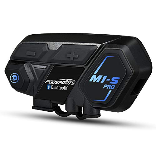 Fodsports M1-S Pro Motorcycle Bluetooth Headsets, 8 People Motorbike Communication System, Bluetooth Intercom Up to 2000M, with Universal Connectivity, can talk and listen to music simultaneously