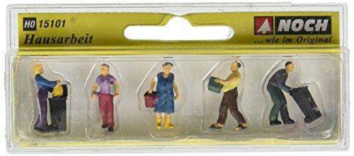 Noch - 15101 - Modélisme Ferroviaire - Travaux Domestiques - 5 Figurines + Accessoires