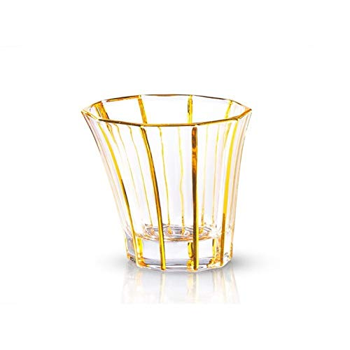 TingLiao Bird's Nest Bohemia Gilding Gold Crystal Embalaje Copa de Vino Whiskey Glass XO Whisky Gafas Brandy Snifters Vasos de Cristal (Color : 93 x 103mm)