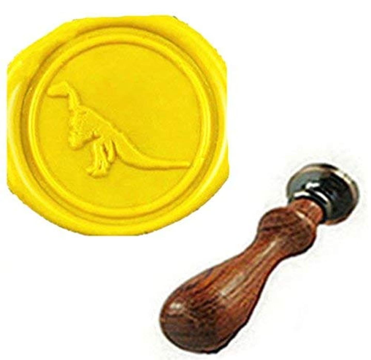 MDLG Dinosaur Wax Seal Stamp Wedding Invitation Gift Cards Packages Wax Seal Sealing Wax Sticks Stamp Rosewood Handle Set