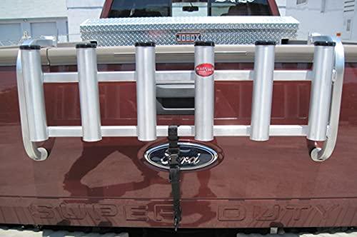 Over the Tailgate Aluminum Fishing Rod Holder