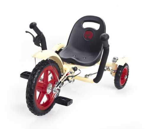 Mobo Cruiser Tot Ergonomic Toddler's Three Wheeled Cruiser, Ivory, 12-Inch