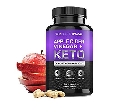Keto Diet Pills + Apple Cider Vinegar (BHB Salts & MCT Oil) - Exogenous Ketones Capsules – Supports Weight Management – Boost Energy – Increase Focus - Fat for Energy for Men Women – Keto Supplement from The Clear Brand