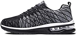 F1rst Rate Men's Lightweight Knit Running Shoes Air Cushion Athletic Sport Walking Sneaker