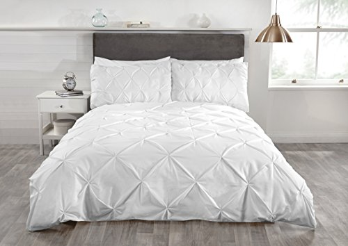 Rapport Balmoral Duvet Set, Double-White, Polyester-Cotton