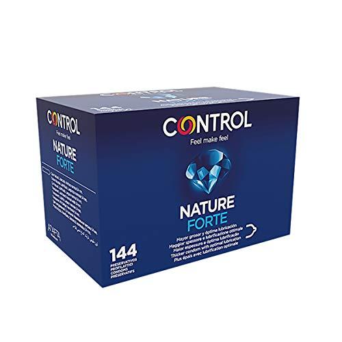 Control Forte Preservativos - Caja de condones extra fuertes - Caja de 144 unidades (pack extra grande) - Gama placer natural, lubricados, perfecta adaptabilidad