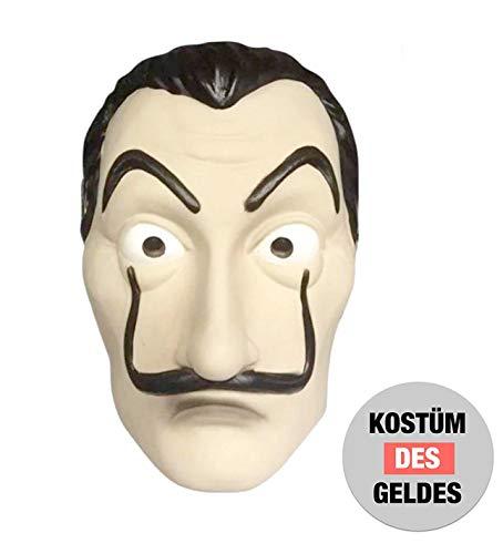 Maske Kostüm Haus des Geldes Verkleidung casa del papel Bella Ciao Haus für Herren, Damen Erwachsene mit Maske bekannt aus Haus des Geldes - Fasching, Karneval, Halloween (1x Maske)