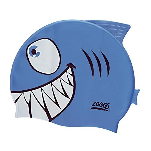 Zoggs 301732 Junior Character Silicone Cap , Unisex Bambini, Shark, taglia unica