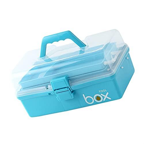 HEHXKJ Caja médica Emergencia 3 Niveles de Primeros Auxilios Medicina Organizador medicamentos vacío Caja de Almacenamiento Caja de Herramientas Multifuncional contenedor de casa (Color : Blue)