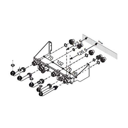 Placa de conexiones para calderas de la serie Isofast 21 Condens o Isomax Condens, 6 x 20 x 25 centímetros (referencia: 0020094856)