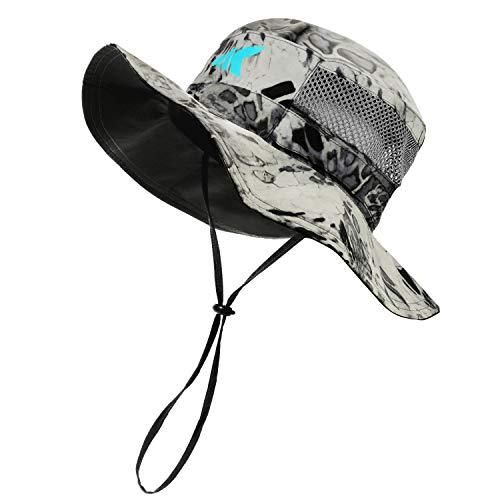 KastKing Sol Armis UPF 50 Boonie Hat - Sun Hat for Men, Sun Protection Hat, Fishing Hat, Hiking Hat, Outdoor Hat for Paddling, Kayaking,Silver Mist