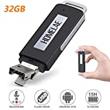USB Voice Recorder 32GB Mini Digital Sound Audio Recorder Dictaphone with Dual USB for Lectures, Meetings, Class, and...