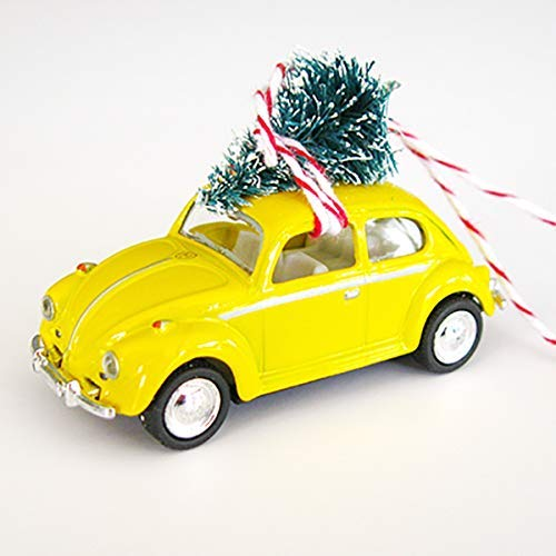 Yellow Max 64% OFF Ranking TOP6 Bug Beetle Christmas Ornament Top on Tree with