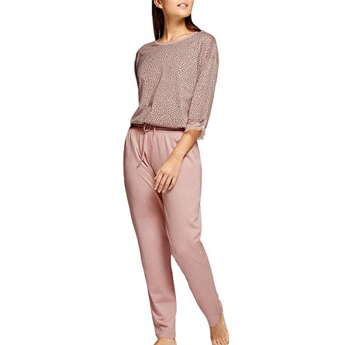 Impetus Woman - Pijama, diseño de leopardo rosa 44-46