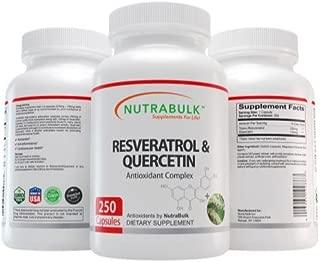 NutraBulk Resveratrol 250mg / Quercetin 120mg Capusules 250 Count