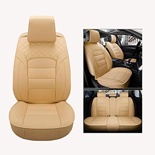 LUOLONG autostoelhoes, PU lederen autostoelhoezen, universeel, volledige stoelhoezen voor Volvo S40 S60 S70 S80 S90 V40 V50 V60 V90 XC60 XC70 XC90 stijl Beige Standard