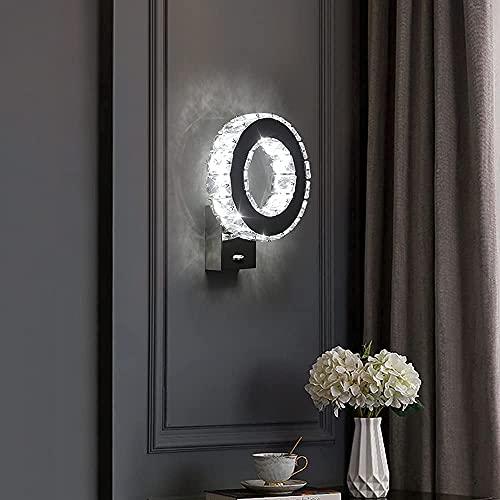 Comely Apliques de Pared LED, Lámpara de pared de cristal 12W, Interior...