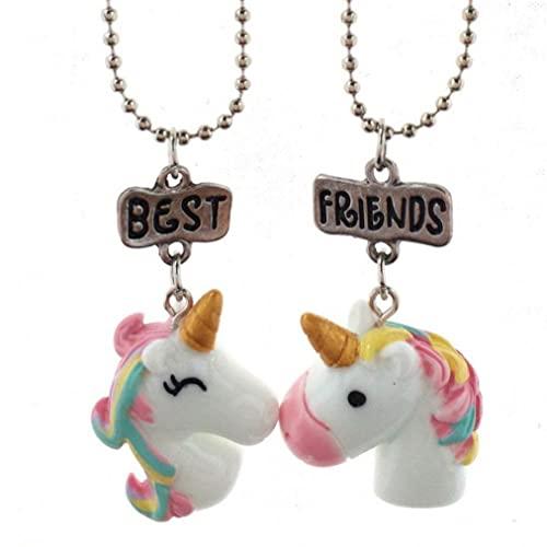 Collana Collana unicorno Collana Bella Rainbow Unicorno Ciondolo Collana Unicorno Forniture per feste Unicorn Bomboniere per partito collana animale per le donne ragazze