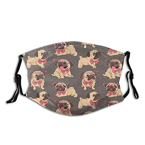 Cute funny french bulldog with glasses Mask With Filters, For Adult Women Men Teens